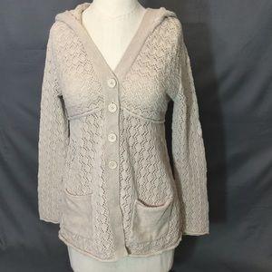 Ruff Hewn crocheted hooded cardigan